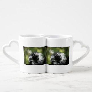 Adorable Colobus Monkey Couples' Coffee Mug Set