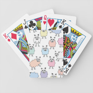 Adorable Colorful Sheep Bicycle Playing Cards