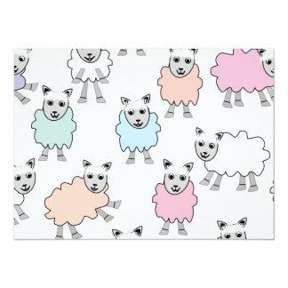 Adorable Colorful Sheep Card