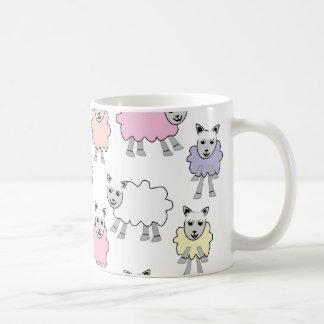 Adorable Colorful Sheep Coffee Mug