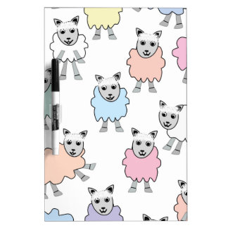 Adorable Colorful Sheep Dry Erase Board