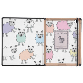 Adorable Colorful Sheep iPad Case