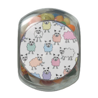 Adorable Colorful Sheep Jelly Belly Candy Jar