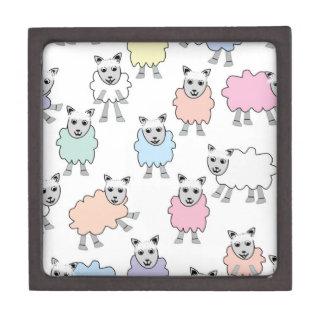 Adorable Colorful Sheep Keepsake Box