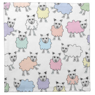 Adorable Colorful Sheep Napkin