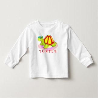 Adorable Colorful Turtle Toddler T-shirt