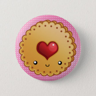 Adorable cookie pinback button