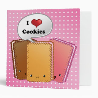Adorable cookies vinyl binders