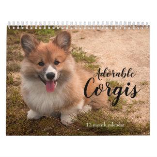 Adorable Corgi Dogs 2019 Calendar