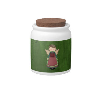 Adorable Country Angel Doll Candy Jars