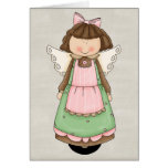 Adorable Country Angel Doll Greeting Card