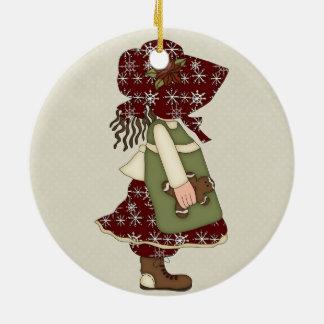 Adorable Country Christmas Rag Doll Christmas Tree Ornament