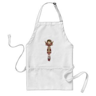 Adorable Country Folk Art Rag Angel Doll Adult Apron