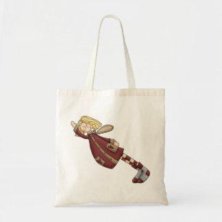 Adorable Country Folk Art Rag Angel Doll Tote Bag