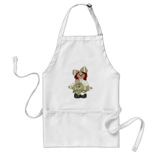 Adorable Country Rag Doll Adult Apron