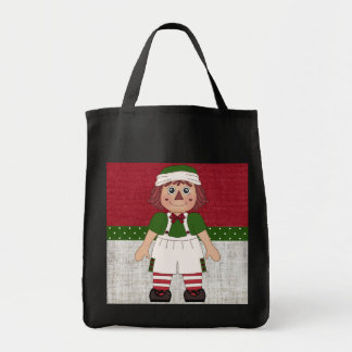 Adorable Country Rag Doll Tote Bags