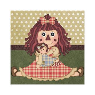 Adorable Country Rag Doll Canvas Art Print Canvas Prints
