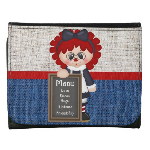 Adorable Country Raggedy Doll Wallet