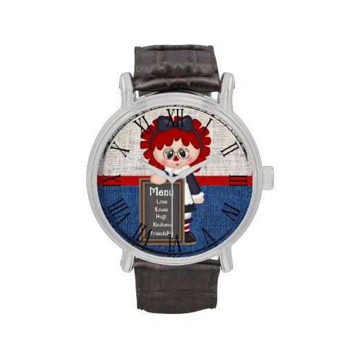 Adorable Country Raggedy Doll Wrist Watches