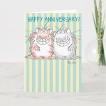 "ADORABLE COUPLE CARD<br><div class=""desc"">Two devastatingly cute cats pose for their picture.</div>"
