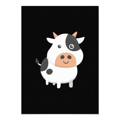Adorable Cow &amp&#x3B; Cute Baby Calf Invitation