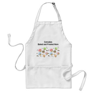 Adorable Cupcakes with Saying Adult Apron
