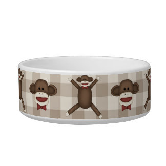 Adorable Customizable Sock Monkey Tees, Gifts Cat Bowl