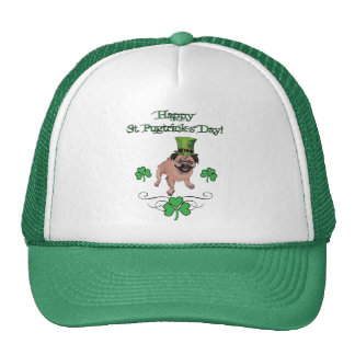 Adorable Customizable St. Pat's Day Pug Hats