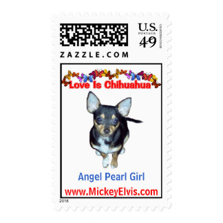Adorable Cute Angel Pearl Girl Postage