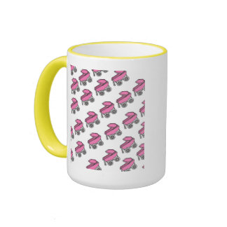 Adorable Cute Carriage Baby Girl Shower Ringer Mug
