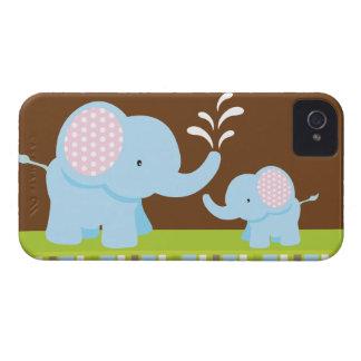 Adorable cute cartoon elephants blackberry bold iPhone 4 cover