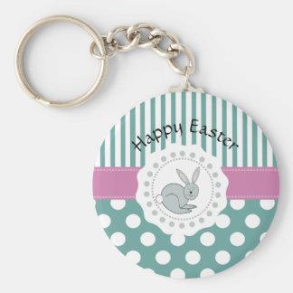 Adorable cute Easter cartoon funny bunny Keychain