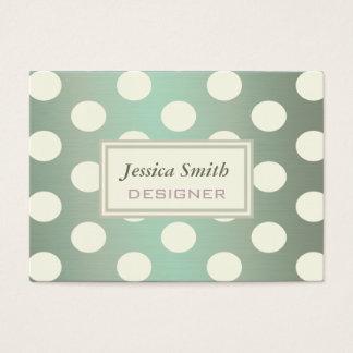 Adorable cute elegant cheerful polka dots business card