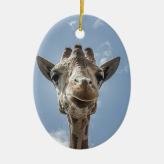 Adorable & Cute Giraffe Head Gift Product Ceramic Ornament