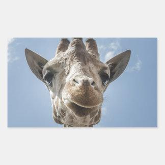 Adorable & Cute Giraffe Head Gift Product Rectangular Sticker
