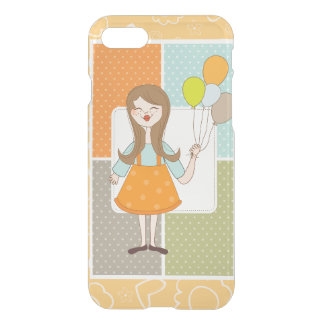 Adorable Cute Girl and Her Balloons iPhone 8/7 Case