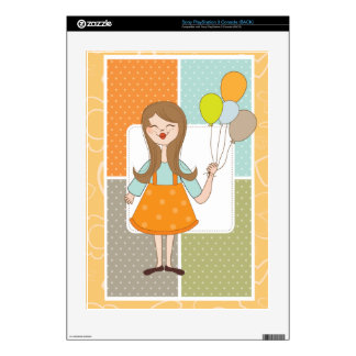 Adorable Cute Girl and Her Balloons Skin For The PS3