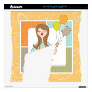 Adorable Cute Girl and Her Balloons Skins For Xbox 360 S