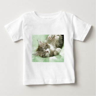 Adorable Cute Grey Tabby Kitten Paw Play Tapping Infant T-shirt