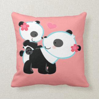Adorable Cute Pink Panda Bear Love Throw Pillows