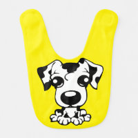 Adorable Cute Spotted Dalmatian Puppy Dog Bib