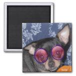 Adorable Cute Suzie Doozie Chihuahua Refrigerator Magnets