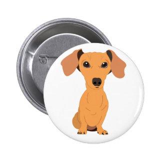 Adorable Dachshund Pinback Button