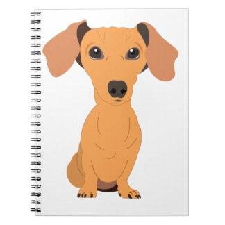 Adorable Dachshund Spiral Notebook