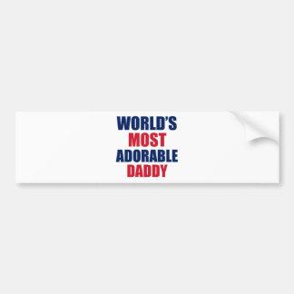 Adorable Daddy Bumper Sticker