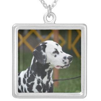 Adorable Dalmatian Square Pendant Necklace