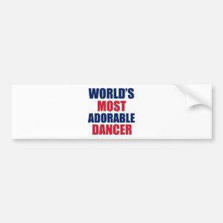 Adorable Dancer Bumper Sticker