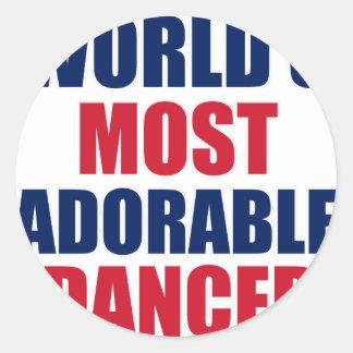 Adorable Dancer Classic Round Sticker
