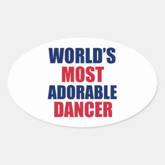 Adorable Dancer Oval Sticker