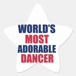 Adorable Dancer Star Sticker